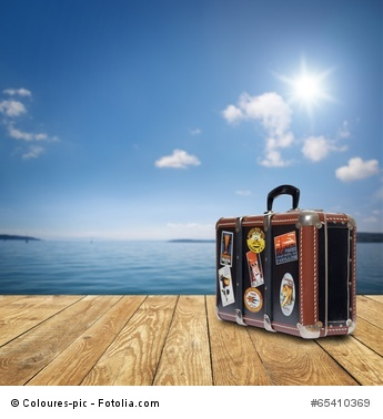 Koffer am See / Meer
